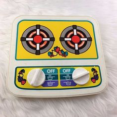 Vintage Little Tikes Reversible Stove Top Oven Kitchen Dials Pretend Play Rare #LittleTikes