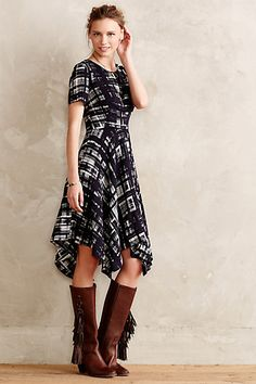 Absolutely the most flattering dress.  Glad I got it before it sold out!  Painted Plaid Dress - anthropologie.com