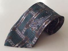 The Arrow Company Neck Tie Turquoise Brown Beige Paisley 100% ITALIAN Silk #TheArrowCompany #NeckTie