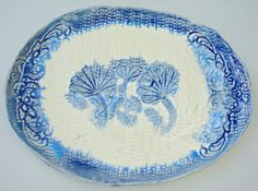 Blue and White pottery platter