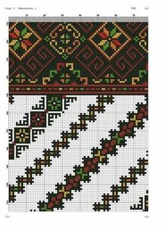 Folk Embroidery, Cross Stitch Embroidery, Embroidery Patterns, Cross Stitch Charts, Cross Stitch Patterns, Tapestry Crochet, Beaded Ornaments, Needlework, Knitting