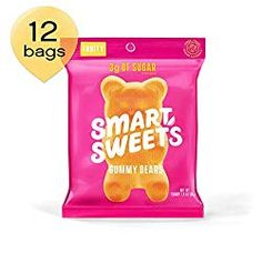 SmartSweets Low Sugar Gummy Bears Candy Fruity Oz Bags (Box Of Free of Sugar Alcohols & No Artificial Sweeteners Sweetened With Stevia, Natural Fruit Flavors Sour Gummy Bears, Gummy Bear Candy, Keto Desserts To Buy, Keto Snacks, Keto Foods, Sugar Free Candy, Low Carb Ice Cream, Keto Candy, Low Sugar