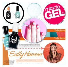 """""""No Light Gel: Nail It in 2 Steps with Sally Hansen® Miracle Gel™: Contest Entry"""" by piedraandjesus ❤ liked on Polyvore featuring beauty, Sally Hansen and SallyHansen"""