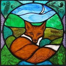stained glass fox - Looks like my little Foxy!