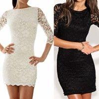 New Fashion Women Black Bandage Dress Bodycon Mini Backless Lace Party Sexy Dress Homecoming Dress