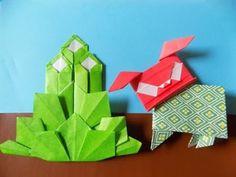 """獅子舞いの折り紙 簡単な体の折り方作り方 """"Shishimai""""Origami - YouTube"""