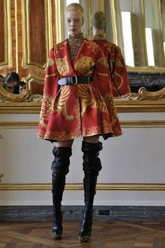 Royal Kimono Fashion  Alexander McQueen Fall 2010 Collection. Look at dem boots.