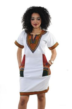 Dress v neck Casual African Print Dashiki Dress Women Summer Bodycon Dress Robe Sexy Casual Sundress Party Plus Size Clothing Vintage African Print Dashiki Dresses African Dresses For Women, African Attire, African Fashion Dresses, Summer Dresses For Women, Dress Summer, African Women, African Outfits, African Clothes, Dress Beach