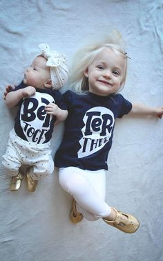 Better Together!! Perfect matching siblings tees. Best friend shirts / brothers / sisters / cousins. Twins. #twinning #shopsmall #matching