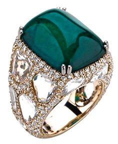 Cabochon Emerald Ring