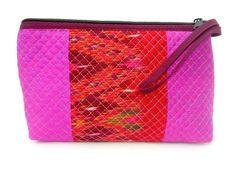 valentines gift ZIP TOP & SIDE ZIP multi colours fuchsia SILK purse wristlet Vintage Designs, Retro Vintage, Lady Grey, Beaded Top, Green Turquoise, Hippie Bohemian, Handmade Bags, Silk Fabric, Hippy