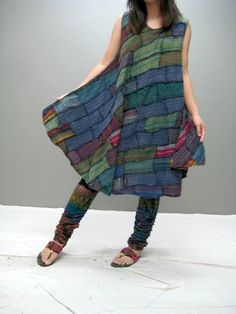 MANE patchwork dress (LIMITED EDITION) 107.1. $45.00, via Etsy.