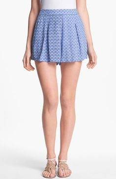 Two by Vince Camuto Pleated Print Shorts Pleated Shorts, Print Shorts, Shopping Spree, Red White Blue, Vince Camuto, Style Me, Nordstrom, Mini Skirts, Pumps