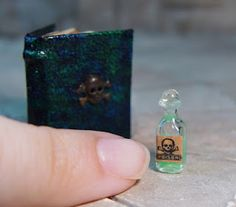 These are so cute and awesome! EV Miniatures: Miniature Open Books and Hidden Potion Books