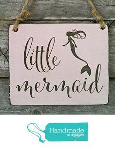 Little Mermaid Small Hanging Sign - Girl's Room Decor - Beach House Decor from Edison Wood http://www.amazon.com/dp/B01CTI8IMM/ref=hnd_sw_r_pi_dp_owF6wb0WSSMZ8 #handmadeatamazon