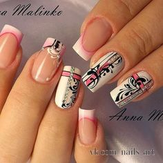 and Beautiful Nail Art Designs Lace Nail Art, Lace Nails, Pink Nails, Beautiful Nail Designs, Beautiful Nail Art, Nail Art Arabesque, Hair And Nails, My Nails, Nagel Gel