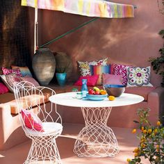 A selection of colorful details for the garden and backyard, outdoor arranging and outdoor furniture ideas - Modern Interior and Decor Ideas
