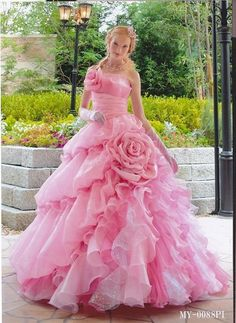 every sissy girly-boy's dream dress! Yes it is I really need a mistress to push me the extra mile to wear girl clothes full time Princess Wedding Dresses, Bridal Dresses, Prom Dresses, Lovely Dresses, Beautiful Gowns, Pink Dress, Dress Up, Pink Tulle, Rose Dress