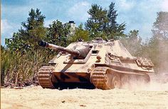 """Here is another WW2 german tank or rather a tank destroyer. This fine piece of machinery is the Jagdpanther. If anyone has ever heard of the iconic """"Panther"""", this  TD was built on it's chassis. One of the most feared tanks of the war, they claimed many of our tanks as easy victims."""