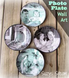 39 Easiest Dollar Store Crafts Ever - Decoupage Photograph Plates - Quick And Cheap Crafts To Make, Dollar Store Craft Ideas To Make And Sell, Cute Dollar Store Do It Yourself Projects, Cheap Craft Ideas, Dollar Sore Decor, Creative Dollar Store Crafts http://diyjoy.com/easy-dollar-store-crafts