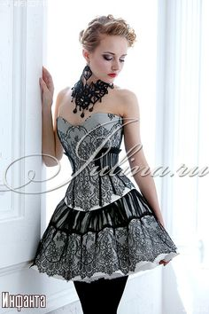 corset, skirt, necklace, everything