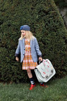 Jeune Premier - boekentas - schooltas - it bag Midi Posh Parrots Little Girl Photos, Little Girls, Car Table, School Bags, Back To School, Girl Fashion, Harry Potter, Hipster, Parrots