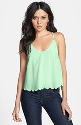 Scalloped Drape Back Tank