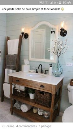 the best diy and decor place for you regular size bath with this type of sink and vanity instead of the marbleized counter and cabs with full length cabs - Rustic Chic Bathroom Vanity