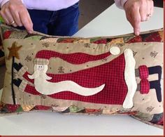 """Flying Santa Pillow"""