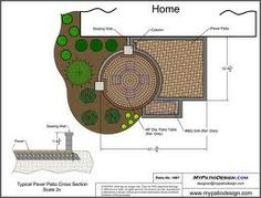 Small Courtyard Patio Design With Seat Wall   285 Sq.