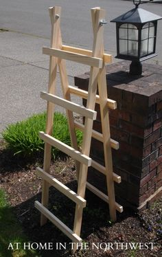 $10 in supplies to make a simple trellis... my cucumbers need this... maybe not so tall, though.