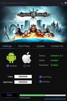 It's perfect time to present another creation of us called March of Emipres Hack. With our March of Empires Hack you can get unlimited gold, silver, March Of Empires Hack, New March, App Hack, Gaming Tips, Website Features, Test Card, Hack Online, Power Rangers, Cheating