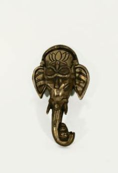 Rare vintage #brass #ganesh wall hanging from #India available at #Chicago #Mecox #interiordesign #MecoxGardens #furniture #shopping #home #decor #design #room #designidea #antiques #garden
