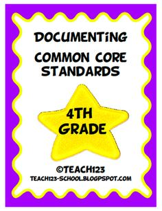 Teach123 - tips for teaching elementary school: Common Core Standards - Documentation Kit