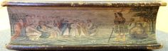 """""""John preaching in the Wilderness"""": Beer's fore-edge painting on an early 16th century Latin Bible, printed at Lyon by Jacob Mareschal in 1514."""