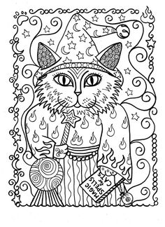 5 Pages Instant Download Coloring for Adults Fantasy Cats  Zentangle Coloring Book pages colouring adult detailed advanced printable Kleuren voor volwassenen coloriage pour adulte anti-stress kleurplaat voor volwassenen Line Art Black and White https://www.etsy.com/shop/ChubbyMermaid