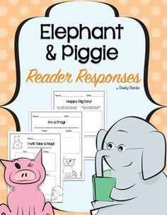 """Elephant & Piggie - Reader ResponsesThese highly engaging Mo Willems - author of """"an Elephant & Piggie"""" themed activities are sure to be a hit with your young learners.Thank you for stopping by. :)___________________________________________________________This material was all made with Cheeky Cherubs clipart.Follow my main character on InstagramCheck out my Pinterest pageFollow me on Facebook"""
