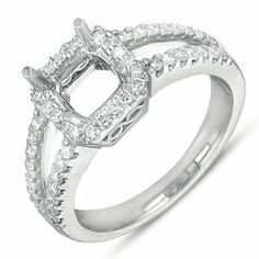 14K White Gold 0.42cttw Round Diamond Semi Mount Engagement Ring Jewelry Pot. $1446.99. 100% Satisfaction Guarantee. Questions? Call 866-923-4446. Your item will be shipped the same or next weekday!. 30 Day Money Back Guarantee. Fabulous Promotions and Discounts!. All Genuine Diamonds, Gemstones, Materials, and Precious Metals