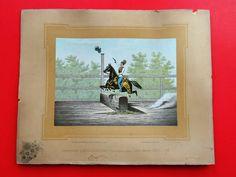 Lithographie Pferde Horse kuk Monarchie Equitationsbilder Krapek Slowenien 4 Horses, Baseball Cards, Ebay, Paper, Slovenia, Art Print, Horse