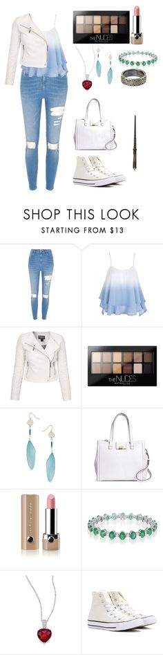 """Lena Potter, Day One"" by angelmaughan ❤ liked on Polyvore featuring River Island, Barbour International, Maybelline, Miss Selfridge, Brooks Brothers, Marc Jacobs, Adriana Orsini and Converse"