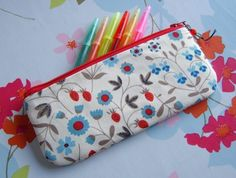 Liberty of London pencil case or make up pouch by handmadewithjoy