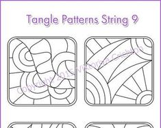 Strings for drawing zentangles Tangle pattern printable string, PDF. Doodle Patterns, Zentangle Patterns, Zentangle For Beginners, Portrait Drawing Tips, String Art Templates, Mandala Art Lesson, Tangle Art, Letter Stencils, Drawing For Kids