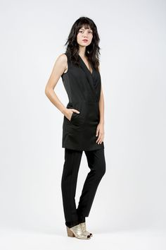 New Arrival: Sleeveless Tuxedo Dress by MM6