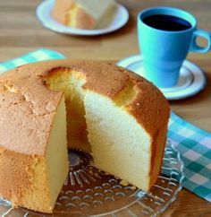 Very Vanilla Chiffon Cake 2 cups cake flour 1 cups sugar, divided 2 tsp baking powder tsp salt 5 large egg yolks cup milk cup vegetable oil 1 tablespoons vanilla extract 6 large egg whites, room temperature Cupcakes, Cake Cookies, Cupcake Cakes, Food Cakes, Just Desserts, Delicious Desserts, Bolo Chiffon, Cake Recipes, Dessert Recipes