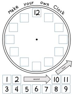 free printable build a clock telling time activity worksheets activities lesson plans. Black Bedroom Furniture Sets. Home Design Ideas