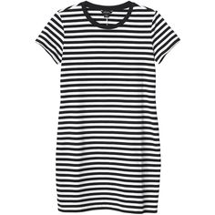 Monki Tone dress (92 BRL) ❤ liked on Polyvore featuring dresses, tops, vestidos, clothes - dresses, stripe dresses, striped summer dress, t-shirt dresses, summer t shirt dress and day summer dresses