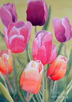 Spring Painting by Laurel Best