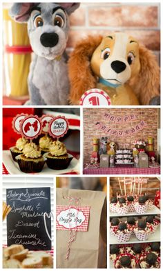 How original! A girl birthday party based on the movie Lady and the Tramp! Great birthday cake, birthday decorations, and cake pops! See more party ideas at CatchMyParty.com! http://catchmyparty.com/parties/our-little-lady-turns-one-2! #movie #cupcakes #girlbirthday #disney