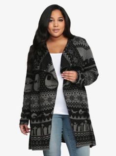 @sc1253 & @ashleycsl ....this is from Torrid....if you ever go on the website and it's back in stock....LET ME KNOW! it's currently sold out...boo......Disney Nightmare Before Christmas Drape Cardigan