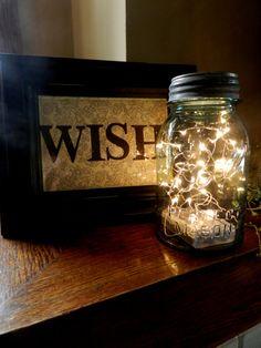 Fireflies in a Mason Jar/ LED Battery by GlitterAndMasonJars, $20.00